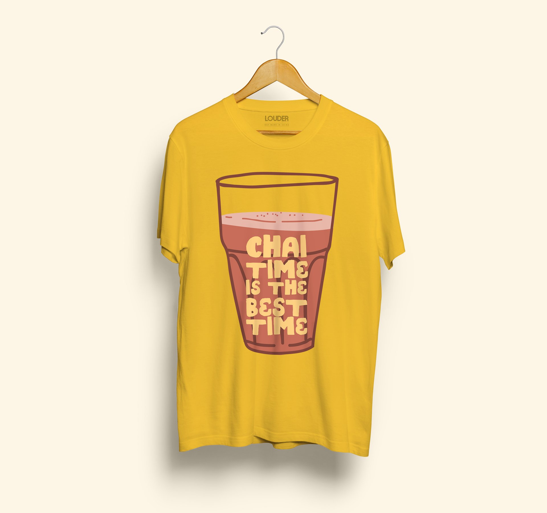 Chai Time is The Best Time T-shirt - ₹499