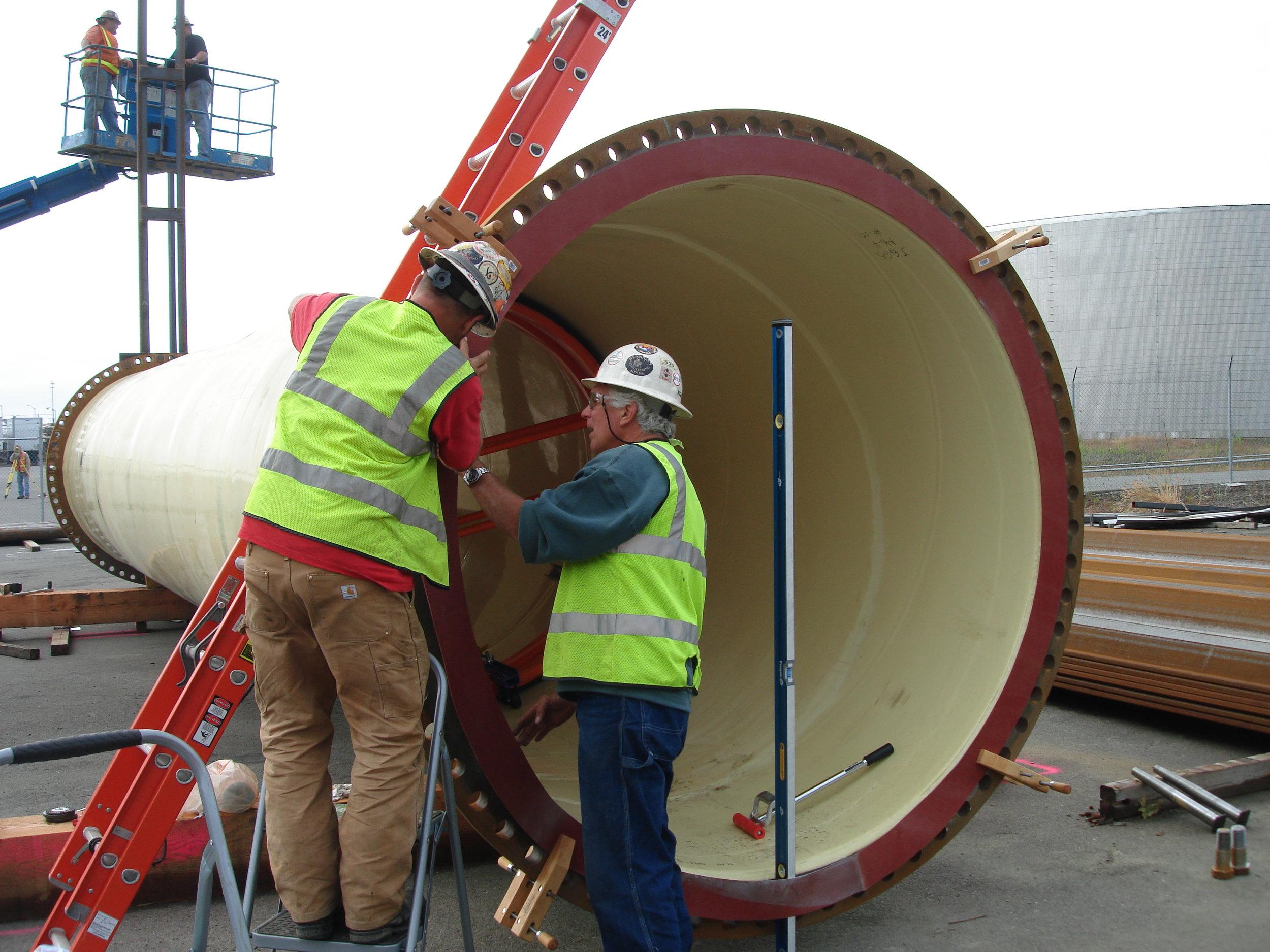 BWO Steel Pipe - Divers Mark Duffy & Dave Mednick Installing Rubber Gasket 027.JPG