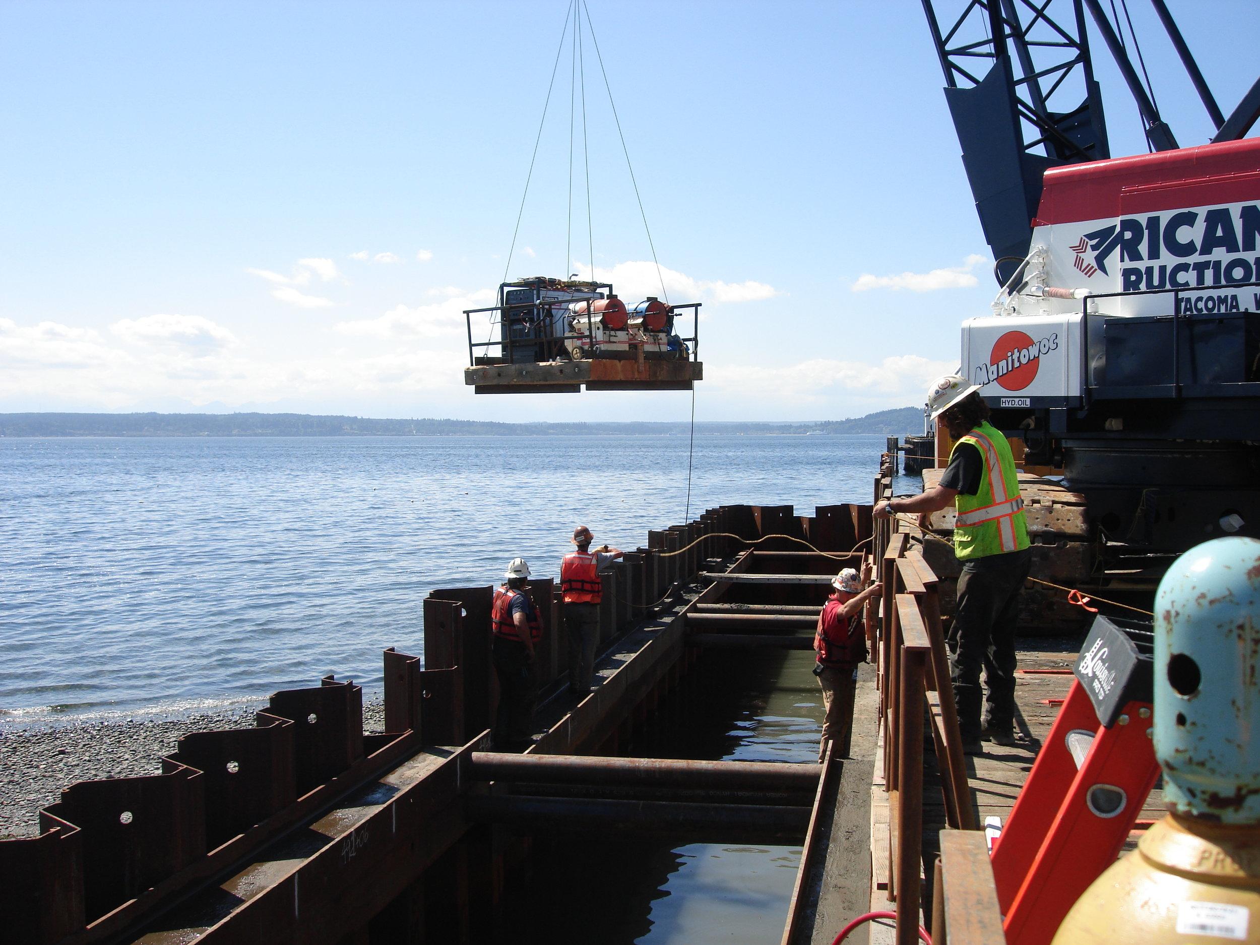 Triton Marine Moving Dive Gear Into Place 015.JPG