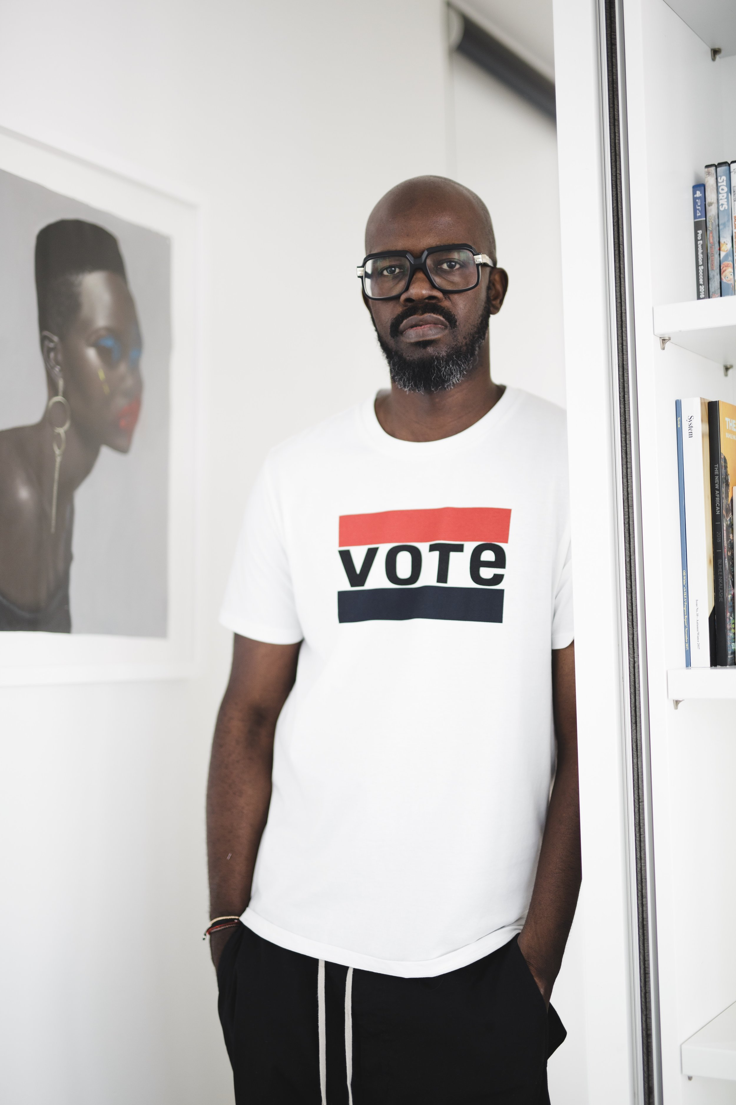 """Be the change you wish to see in the world'- Mahatma Gandi. Make sure you do your part and vote 8 May."" - Black Coffee"