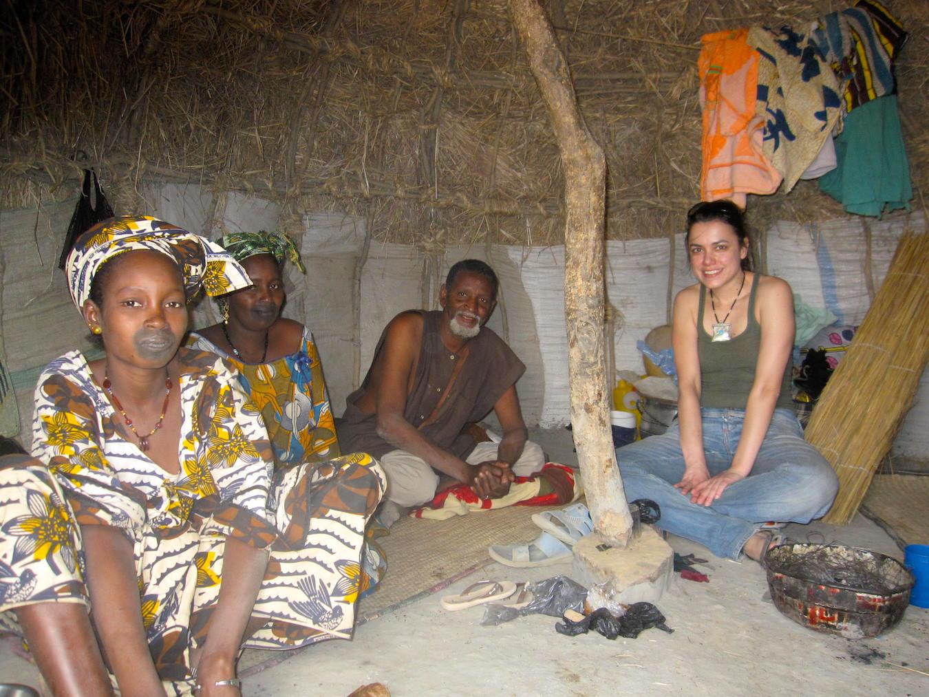 Fulani women (Peul) with the tchoodiaround their mouths. Photo: Patti Neves