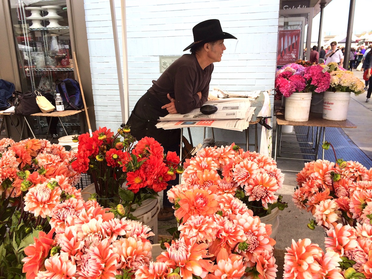 Vendedor de flores em San Francisco. Foto: Patti Neves