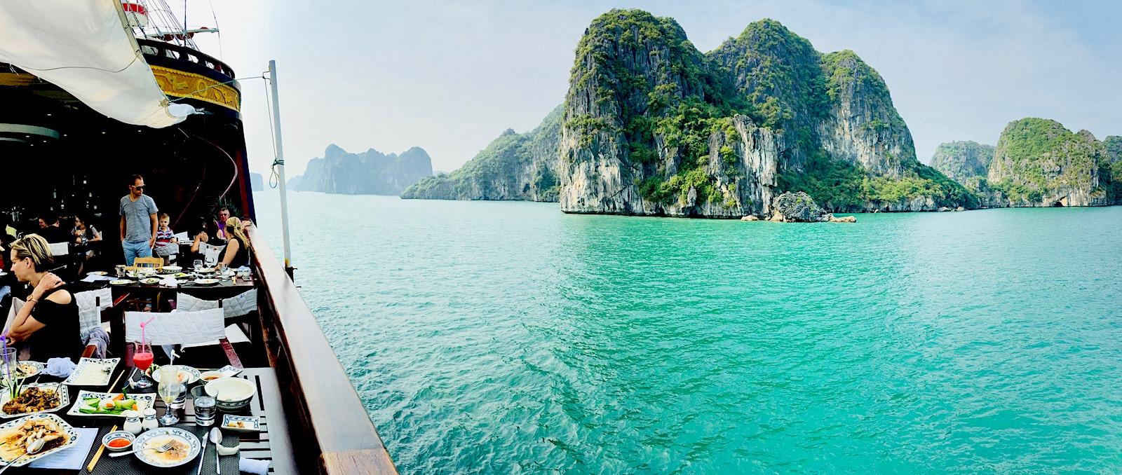 Cruzeiro em Bai Tu long, Halong Bay, Vietnã. Foto: Patti Neves