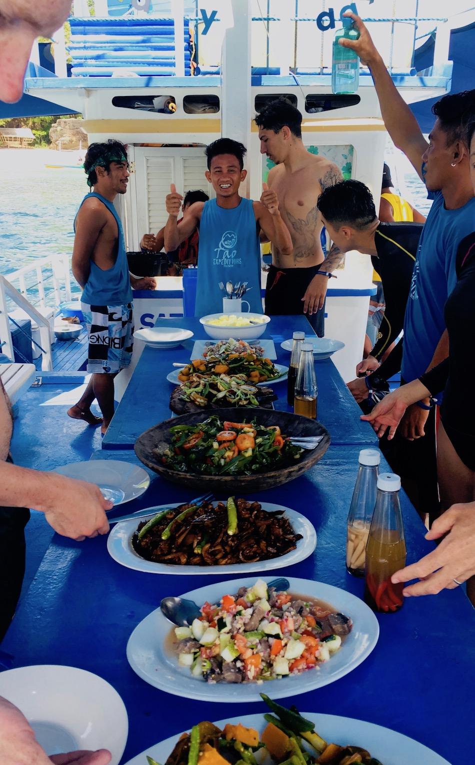 Almoço nas ilha remotas de Palawan, Filipinas. Foto: Patti Neves