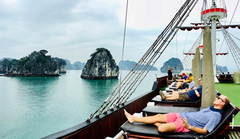 Bay Tu Long cruise (Halong Bay). Photo: Patti Neves