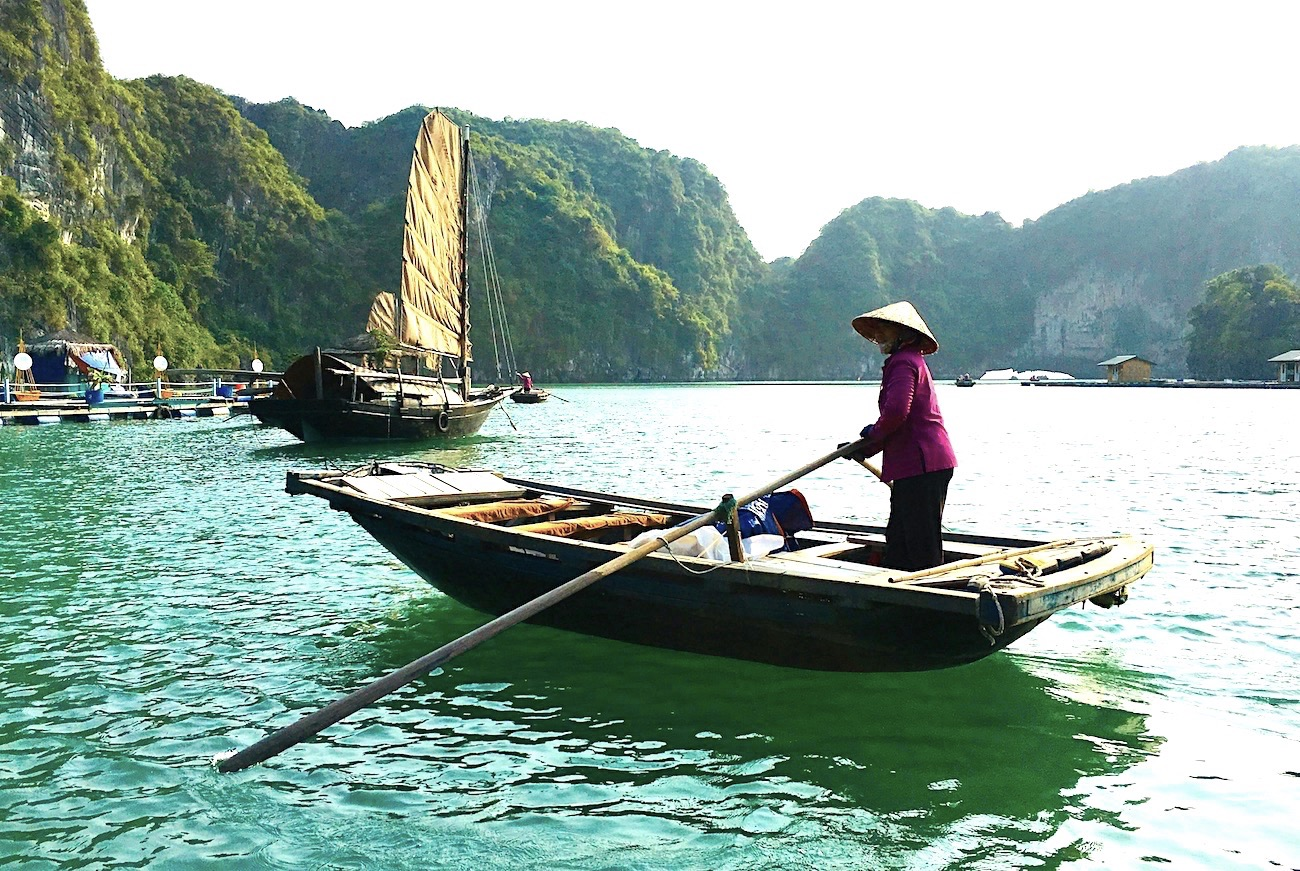 Woman in floating fishing village in Vietnam. Photo: Patti Neves