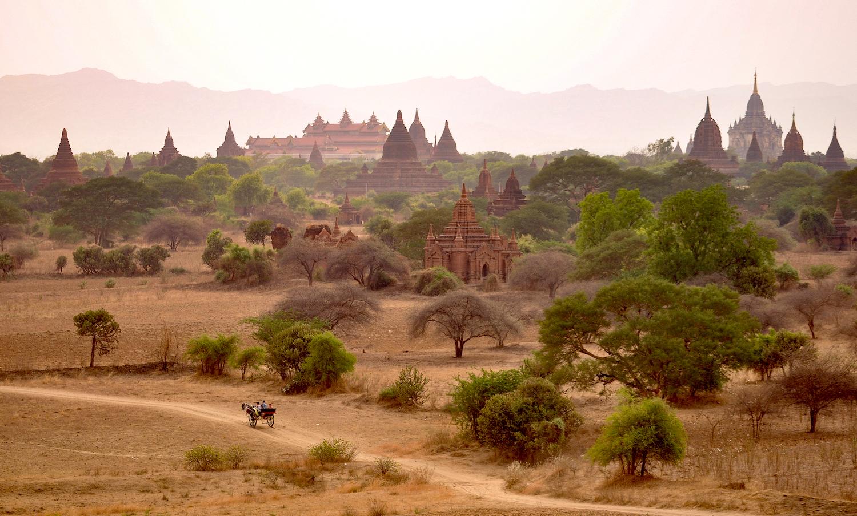 Templos de Bagan, Myanmar. Foto: David Mattatia
