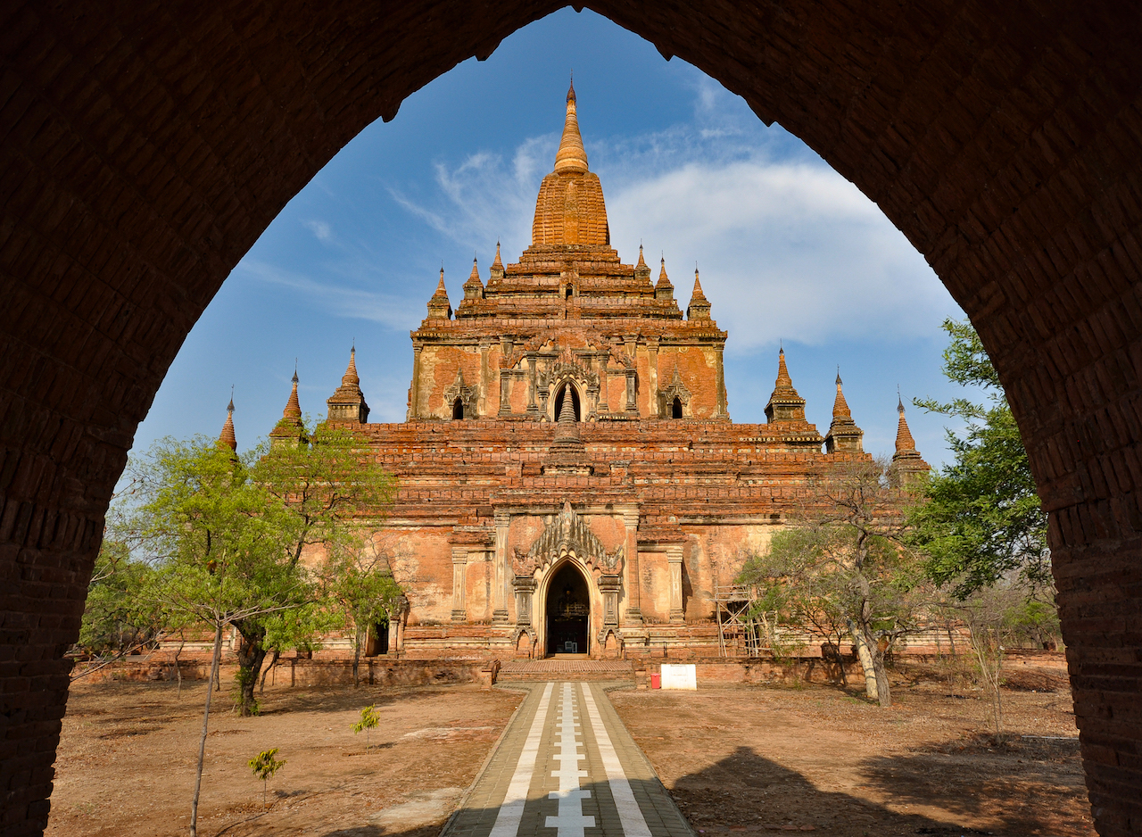 Htilominlo, o simpático templo do rei guarda-chuva. Foto: David Mattatia