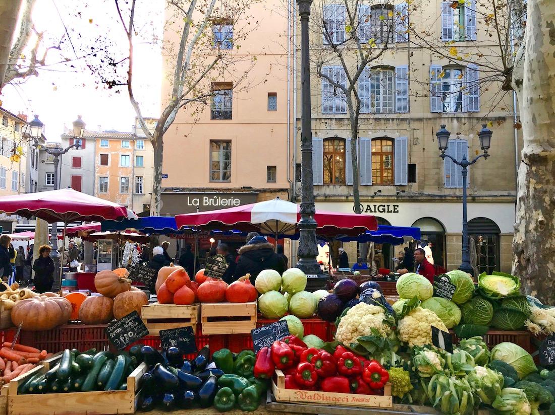 Dia de mercado em Aix. Foto: Patti Neves