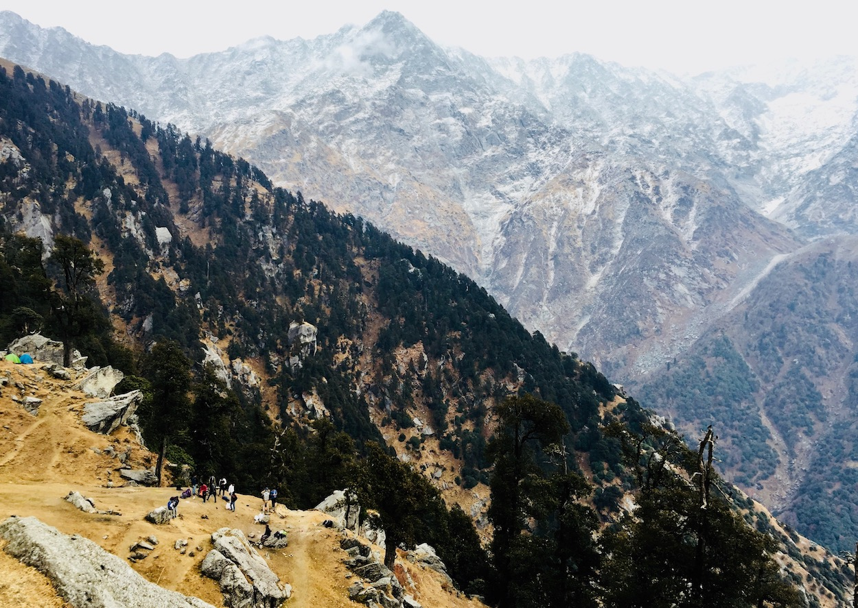 Triund campsite at the hilltop. Photo: Patti Neves