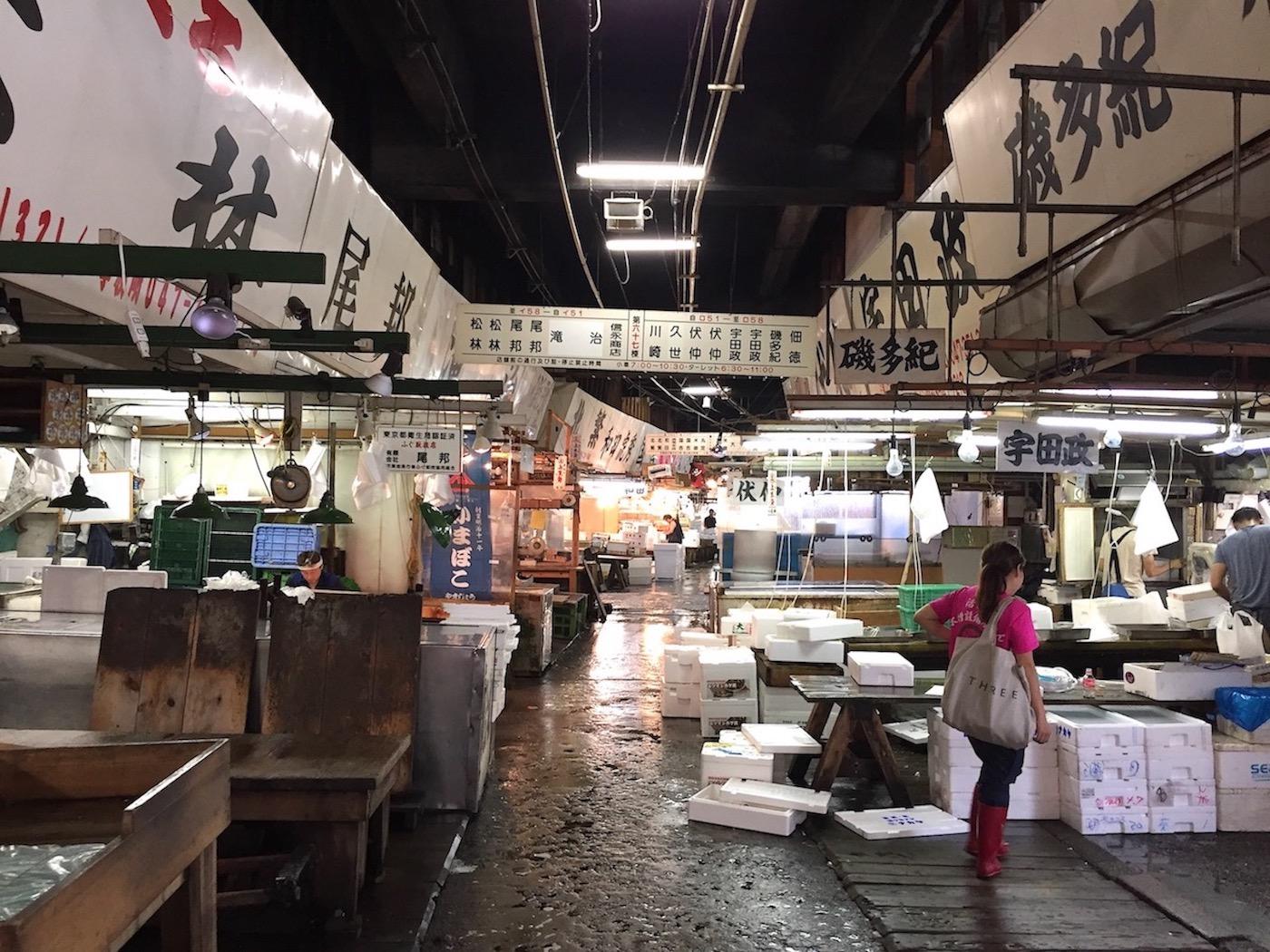 Mercado de Tsukiji, Tóquio. Foto: Patti Neves
