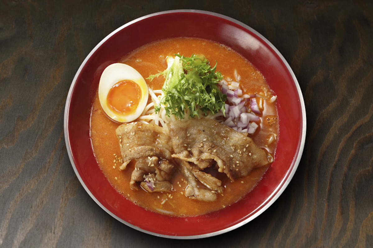 Nikumori Spicy ramen. Foto:  Sanpoutei