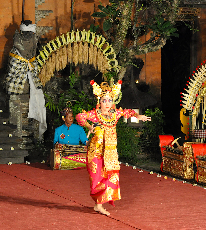 Balinese dance, Ubud, Bali. Photo: Patti