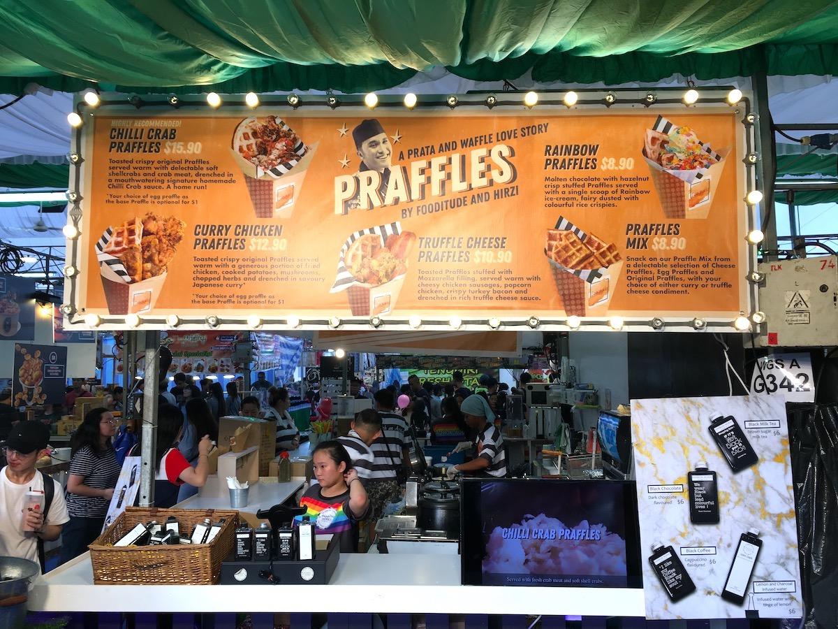 Fusão de Waffle + Prata no Geylang Bazaar Foto: Patti Neves