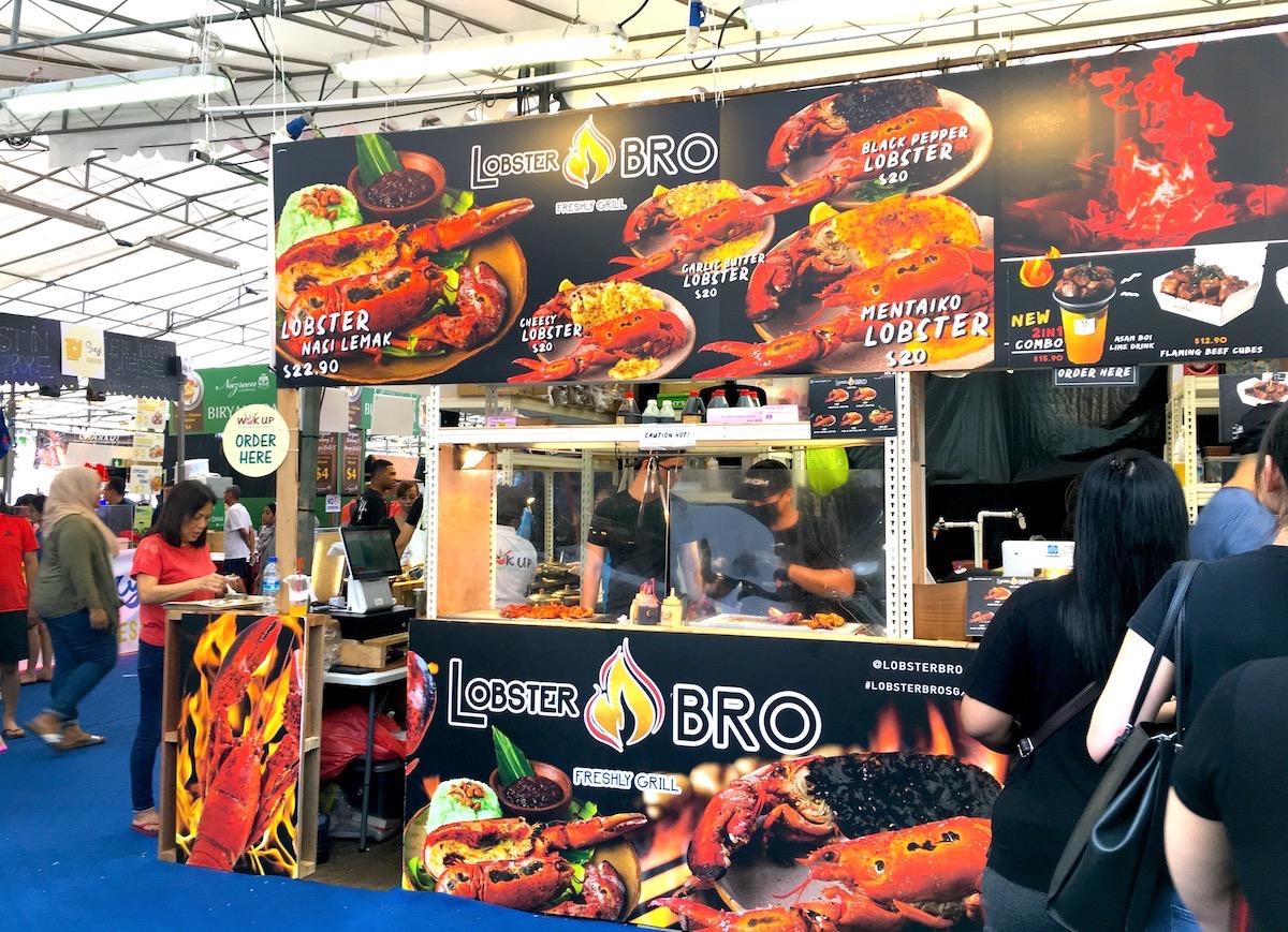Stand de Nasi Lemak com lagosta. Foto: Patti Neves