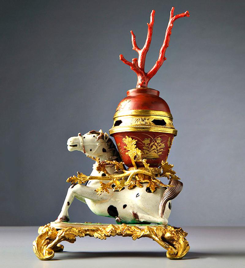 Receptáculo para incenso, China, Jingdezhen, Séc XVIII. ACM