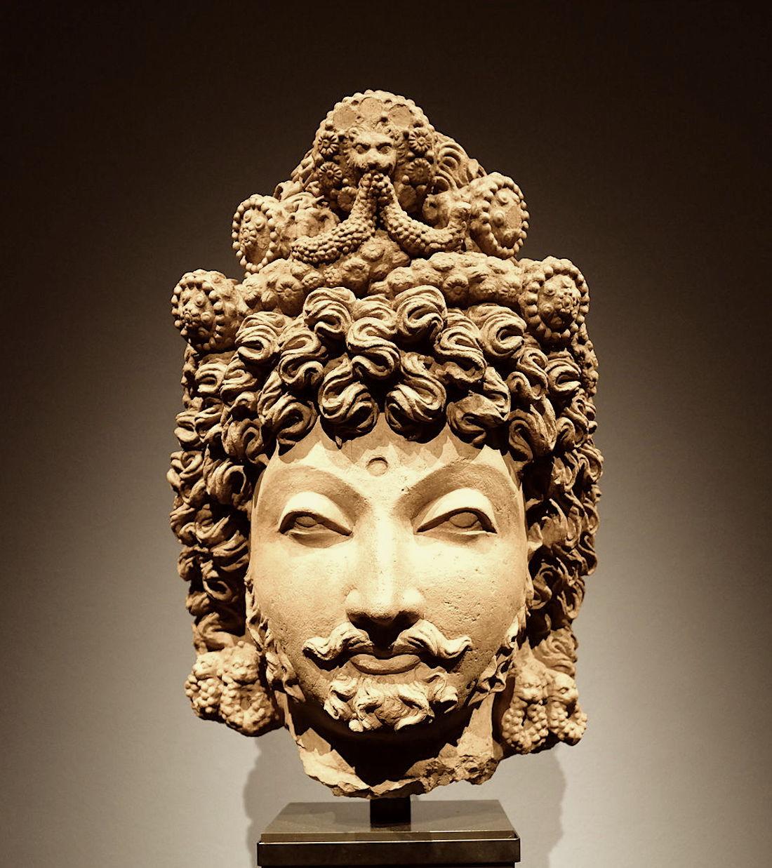 Bodhisattva head, Gandhara, Século IV. ACM