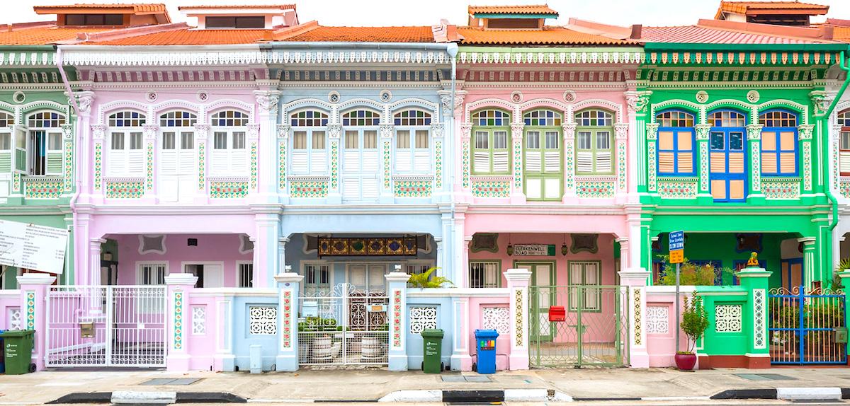 Joo Chiat e as casinhas de estilo colonial Peranakan