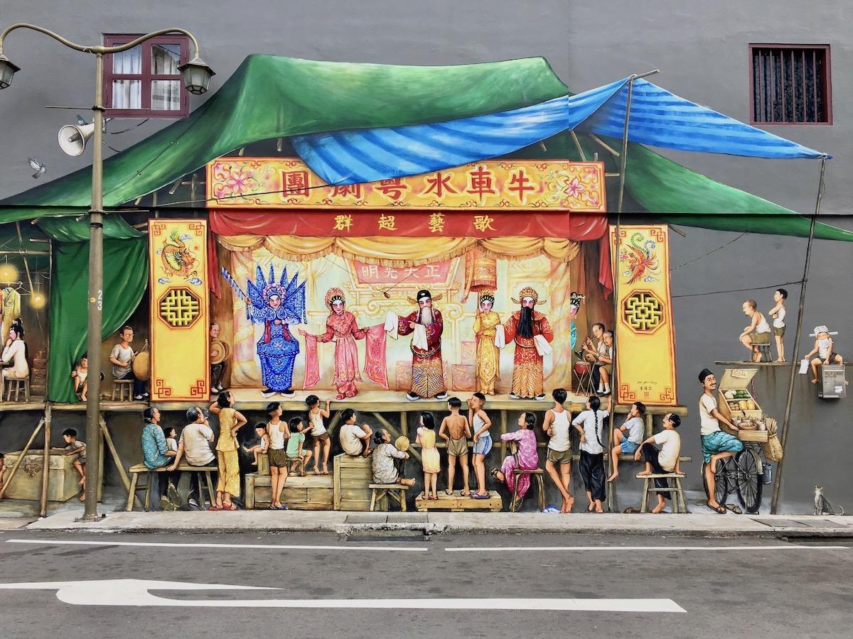 Mural em Chinatown. Foto: Patti