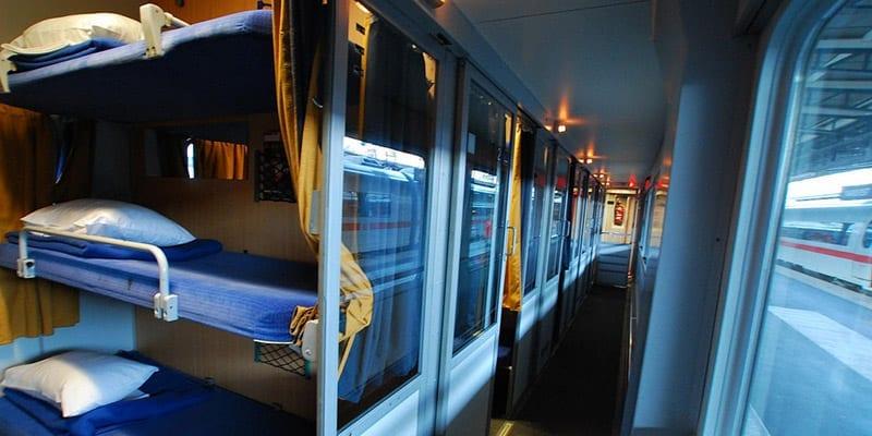 Trens couchettes. Foto:  TheSavvyBackpacker