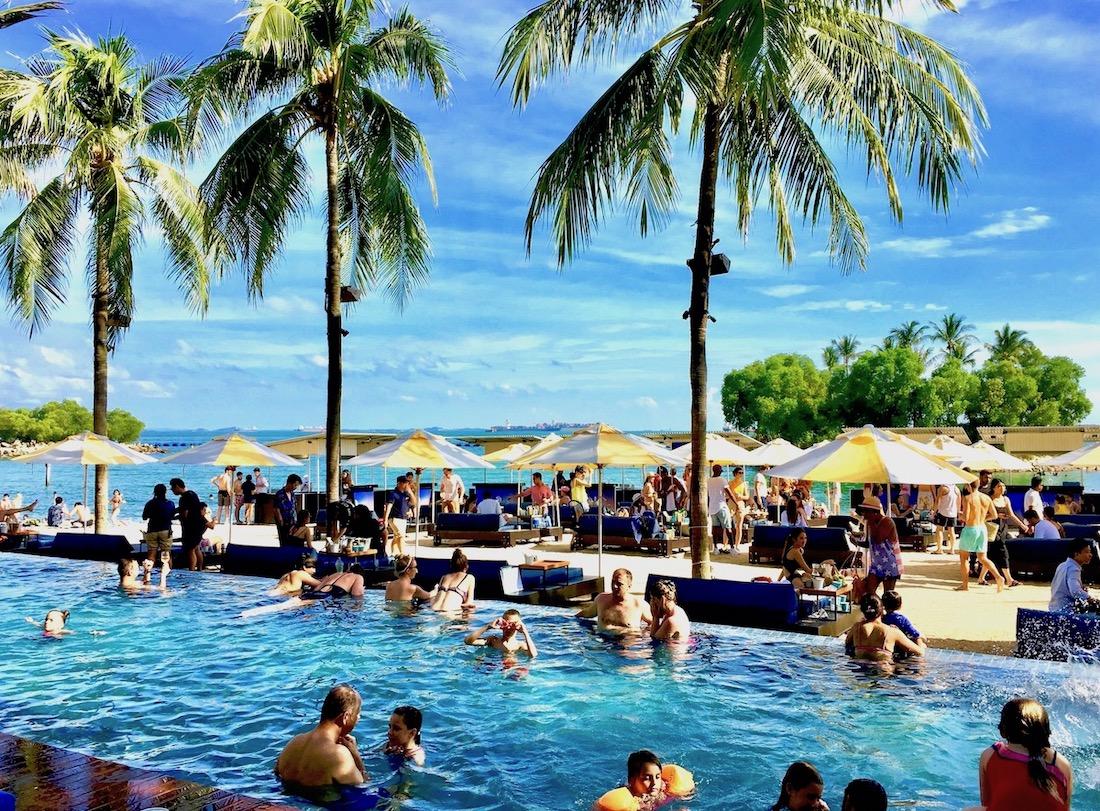 Tanjong Beach Club em Sentosa. Foto: Patti Neves