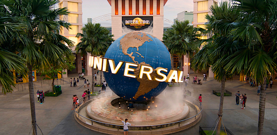 Universal Studios em Singapura, ilha de Sentosa.