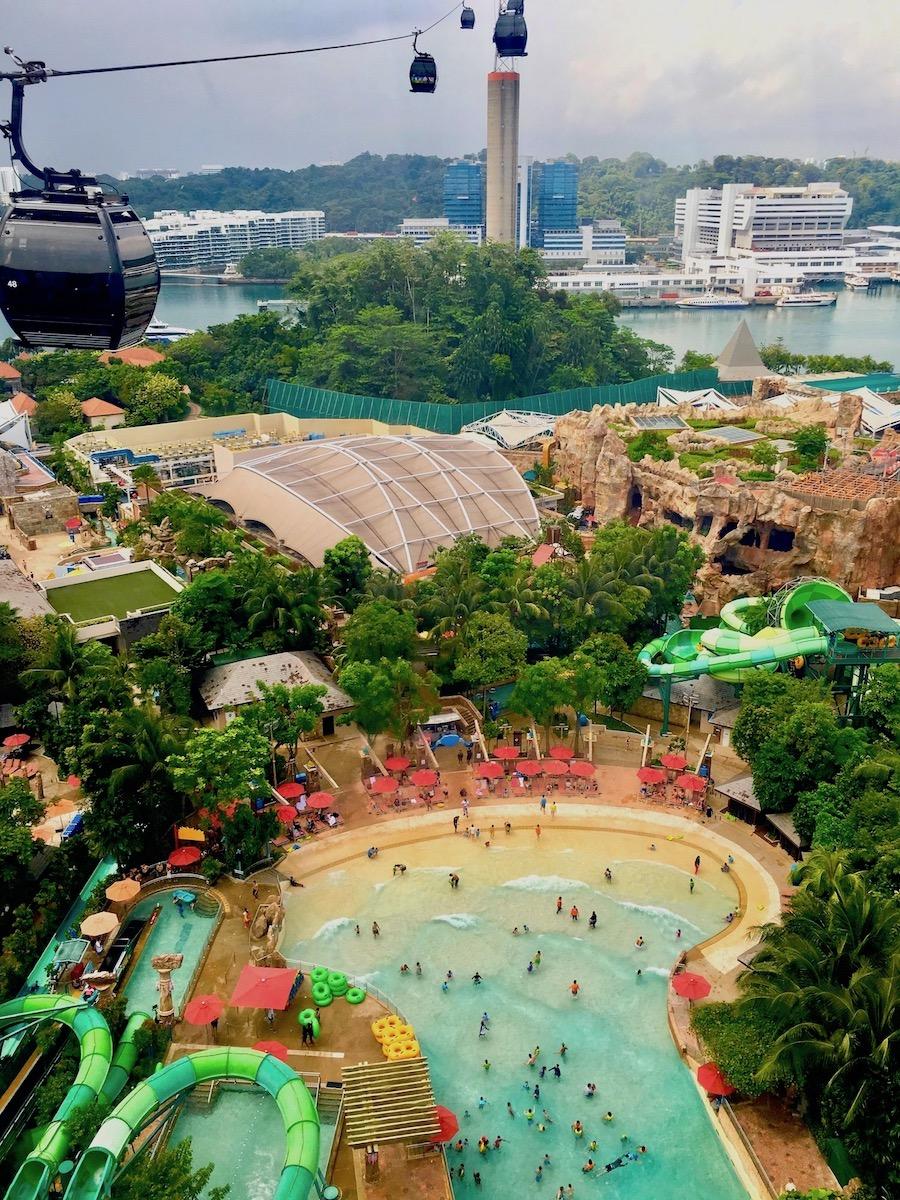 Ilha de Sentosa, vista do Singapore Cable Car. Foto: Patti Neves