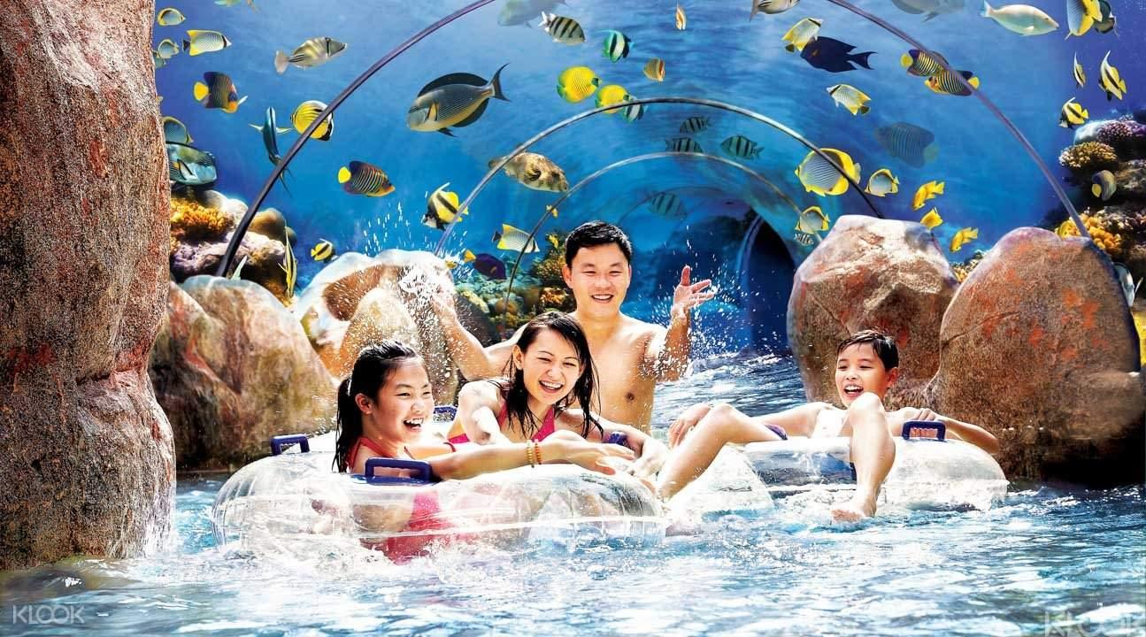 Parque aquático em Sentosa