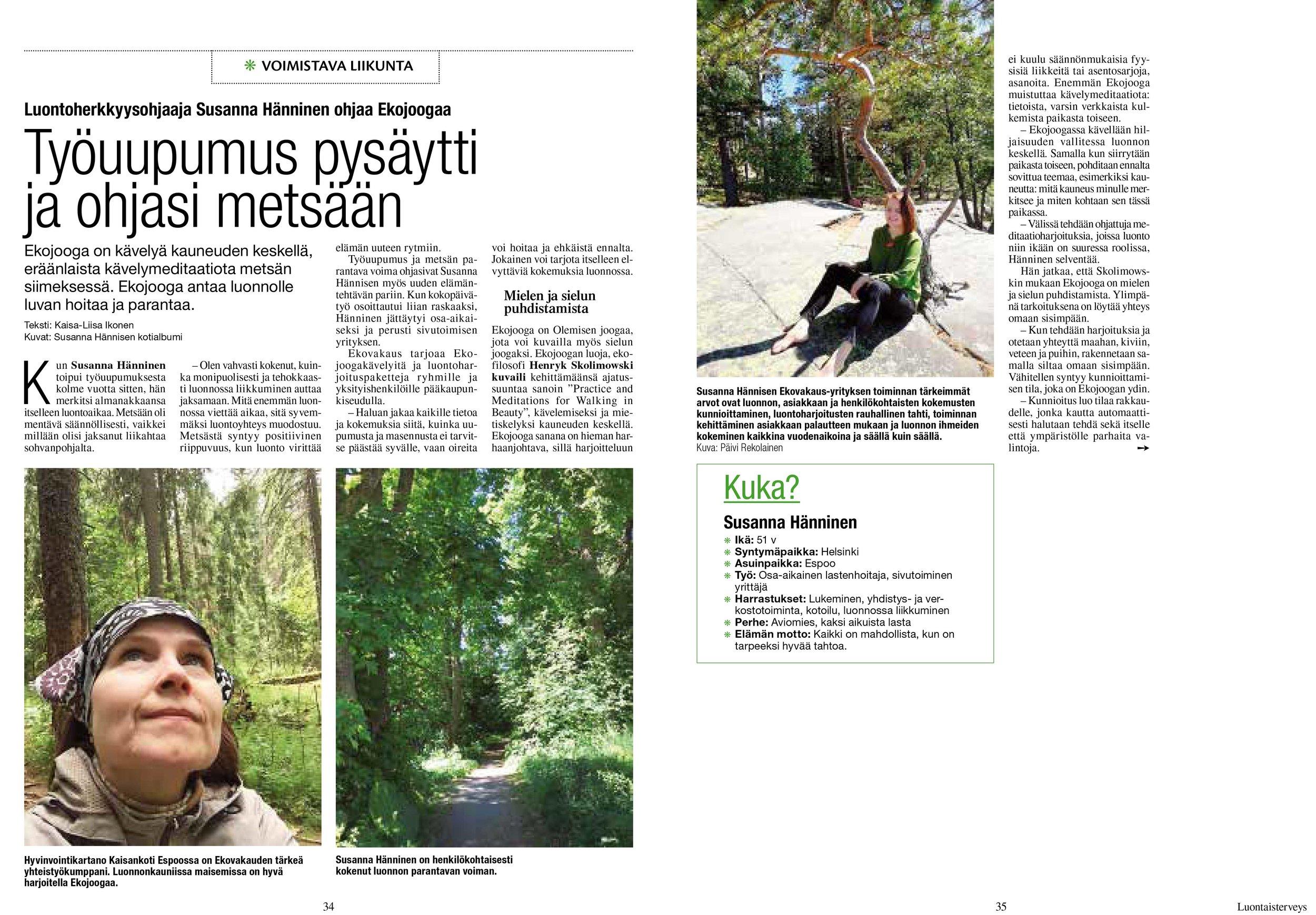 Luontaisterveys numero 6 / 2018. Teksti: Kaisa-Liisa Ikonen.