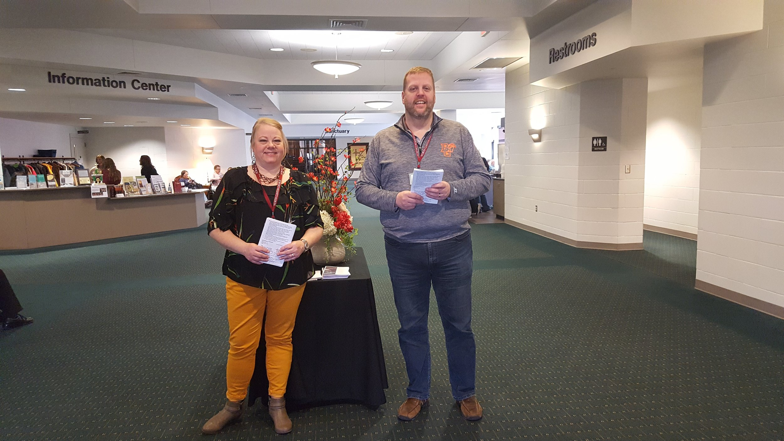 Greeters are on hand to welcome you at the south and east entrance and provide any information you may want.