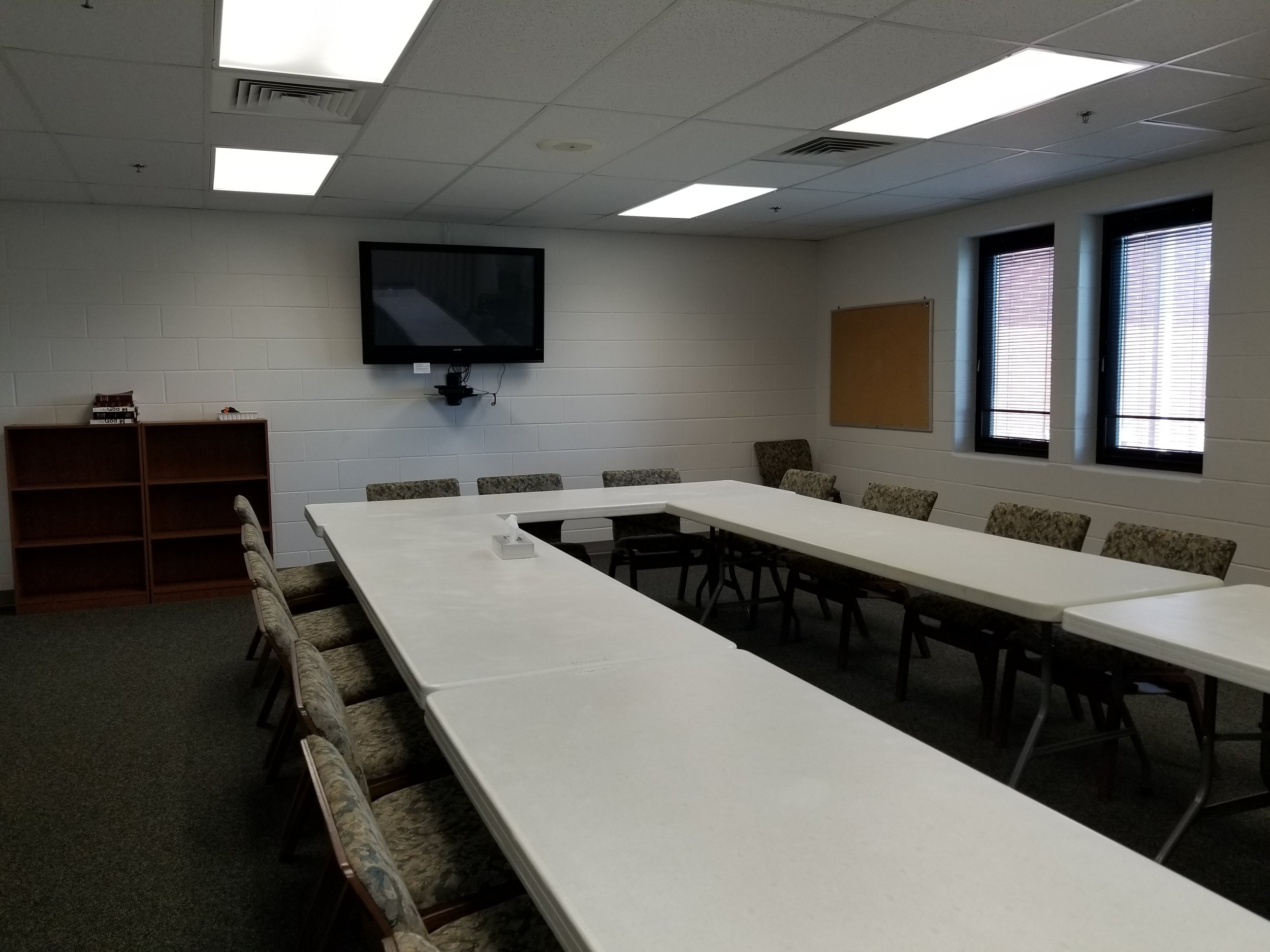 The Education Wing offers rooms of various sizes for classes and activities.