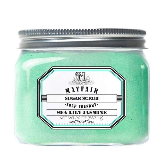 Mayfair Soap Foundry Sugar Scrub in Sea Lily Jasmine