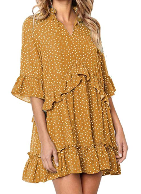 2019-03-05 12_46_08-onlypuff Puff Sleeve Dresses for Women Belted Tie Front Pencil Tunic Dress Casua.png