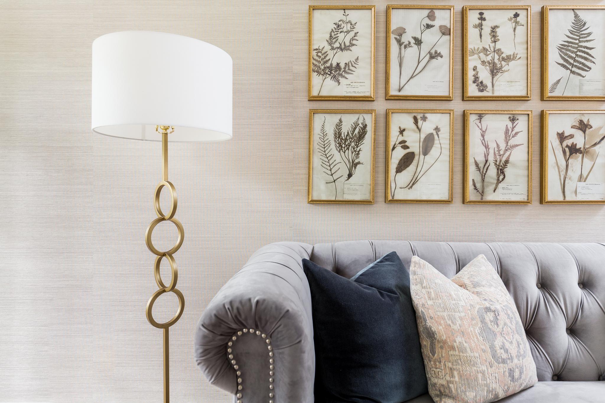 Transitional Grasscloth Wallpaper - Lacey Michalek