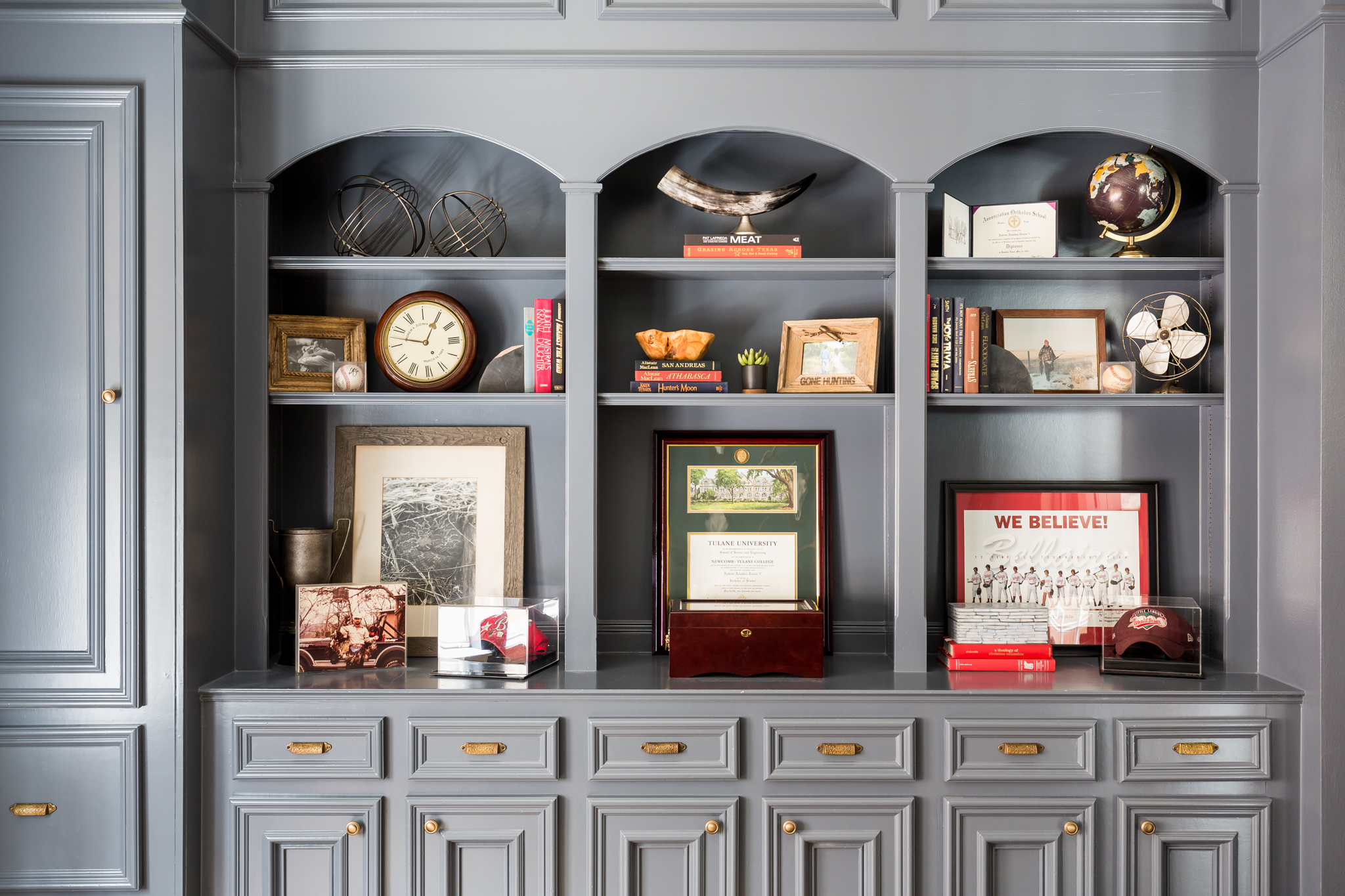 Blue Office Styling Shelves