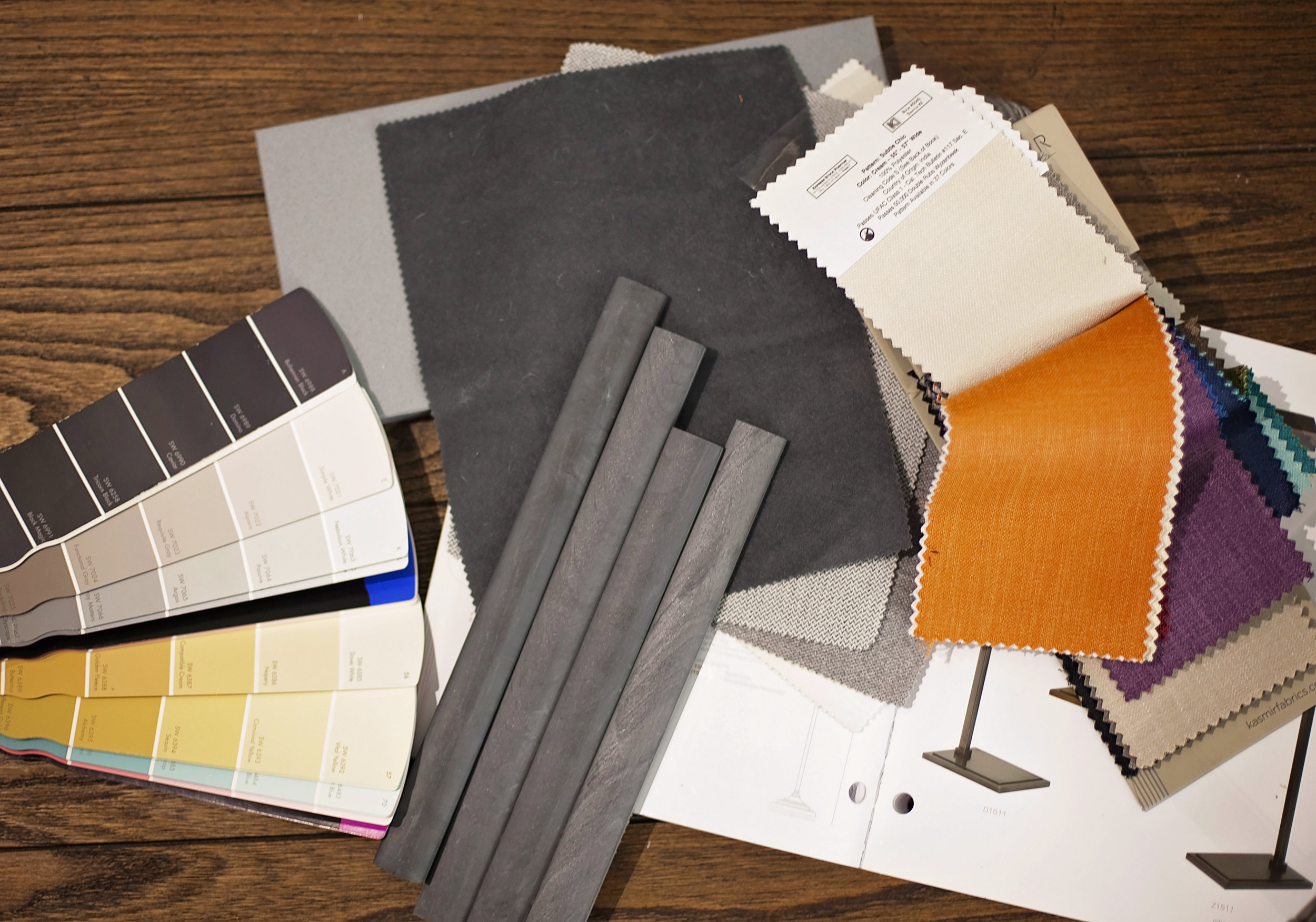 Choices can be overwhelming – that's where a designer can really help you out.