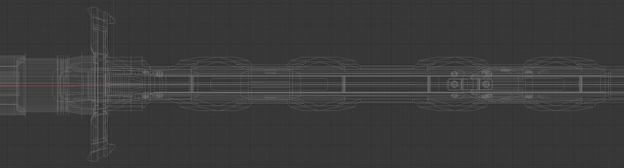 The result of my first high poly model in blender. I'm excited about this wireframe (though even this isn't production ready), because you can actually see the planes, it isnt a mess of tris, like a 3D-Coat model is.