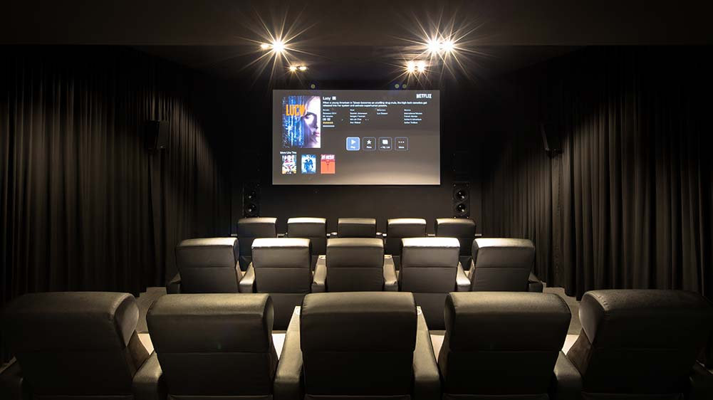 Home Theater - Design a spectacular Home Cinema comparable to any Commercial Cinema. Press the