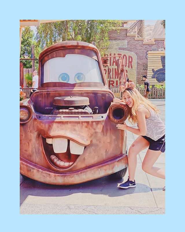 C'mon Mater, let's make a run for it 🏃‍♀️🍦• • • • #disneyland #disney #disneydream #summeratdisney