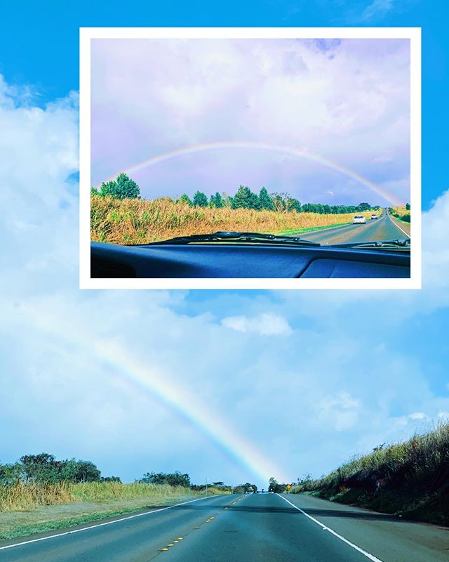 "Reminiscing about this rainbow @cammzzzzzz and I saw about a week ago 💜 Did you know that rainbows are actually full circles? They don't have an end, much less a pot of gold waiting for us 😂 God's promises might not be the pot of gold we expected, but just like rainbows are worth chasing, His promises are worth pursuing. Let's enjoy the drive there; the journey to peace, joy, discovering your calling, building a family. The chasing is part of the experience so turn up the music and enjoy getting there 💛 ""The grass withers, the flower fades, but the word (promises) of our God stands forever."" Isaiah 40:8 🌈"