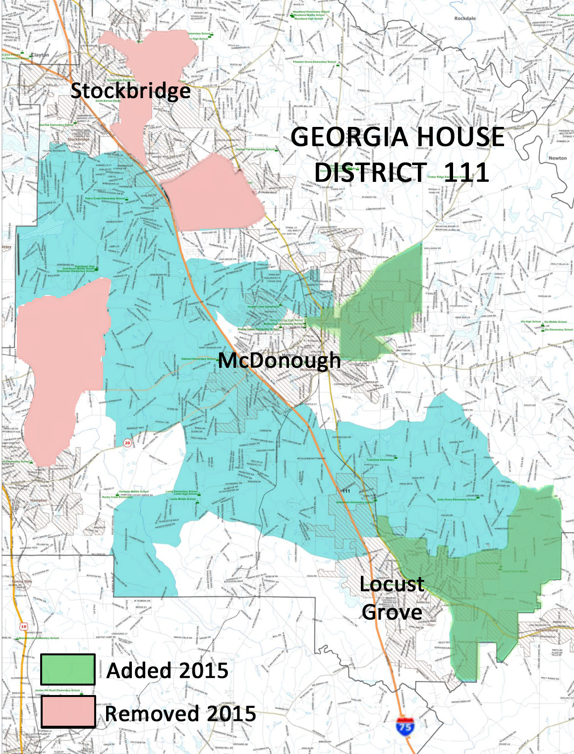 GA House District 111 2015 Changes