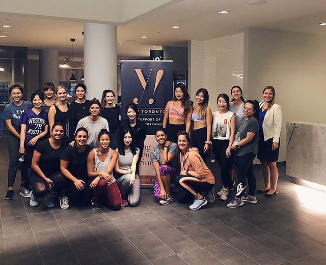 SWIPE for the *sweaty* after 👉😂 THANK YOU to all the ladies who came out to our second annual @yes416 X @equinox charity fitness class💪 We collectively reached our goal of supporting 3 women through the full range of suiting and career learning programs at @dressforsuccesstoronto!  A huge shout out to Josh and the Equinox Yorkville team for allowing us non-members to burn some calories for a great cause ❤️ We really couldn't champion the #dressforsuccess mission without the support of all of you and the #Toronto community.