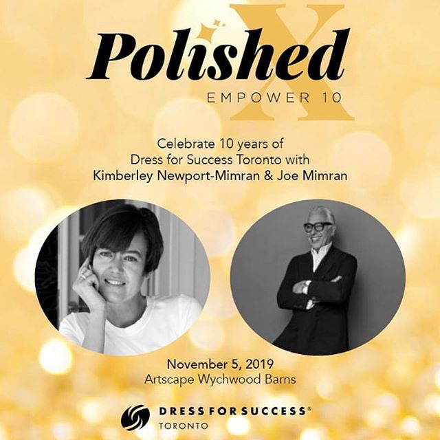 📣 VIP SPEAKER ALERT 📣 A VIP ticket to #Polished gets you exclusive access to a fireside chat with fashion entrepreneurs Kim Newport-Mimram and Joe Mimram.  Learn how they built some of the most recognized brands in Canada and what empowerment means to them. You don't want to miss this!  Link to purchase tickets in bio 👆