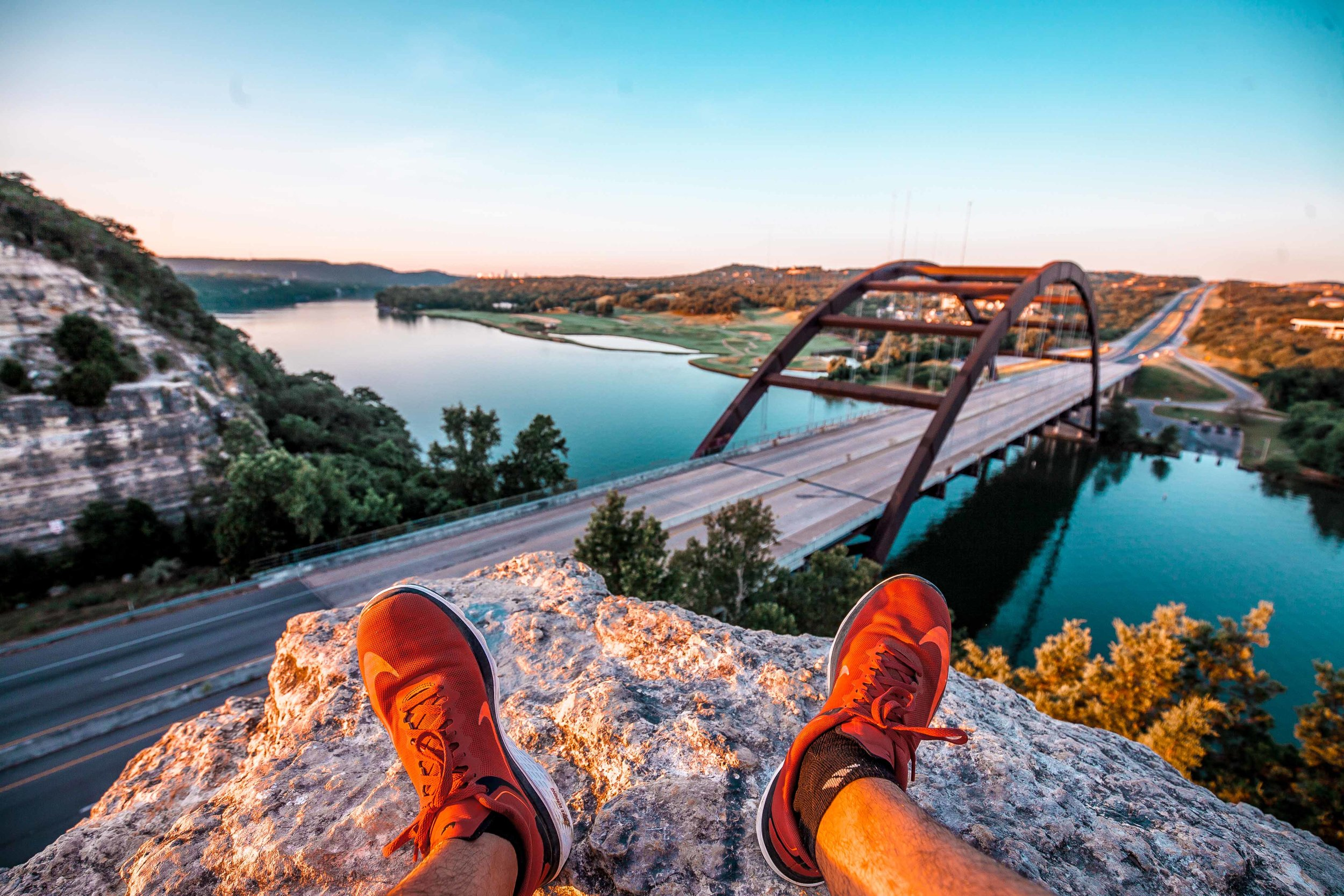 Overlooking the Colorado River and Austin's 360 Bridge - 2017