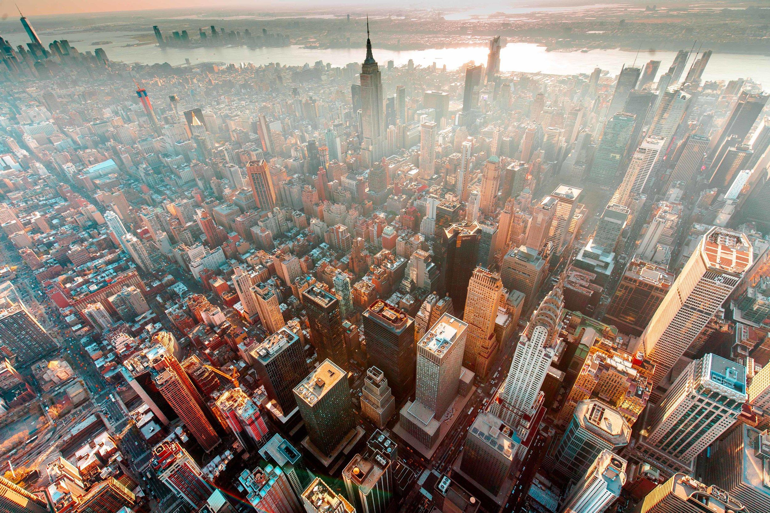 High above midtown Manhattan - 2016