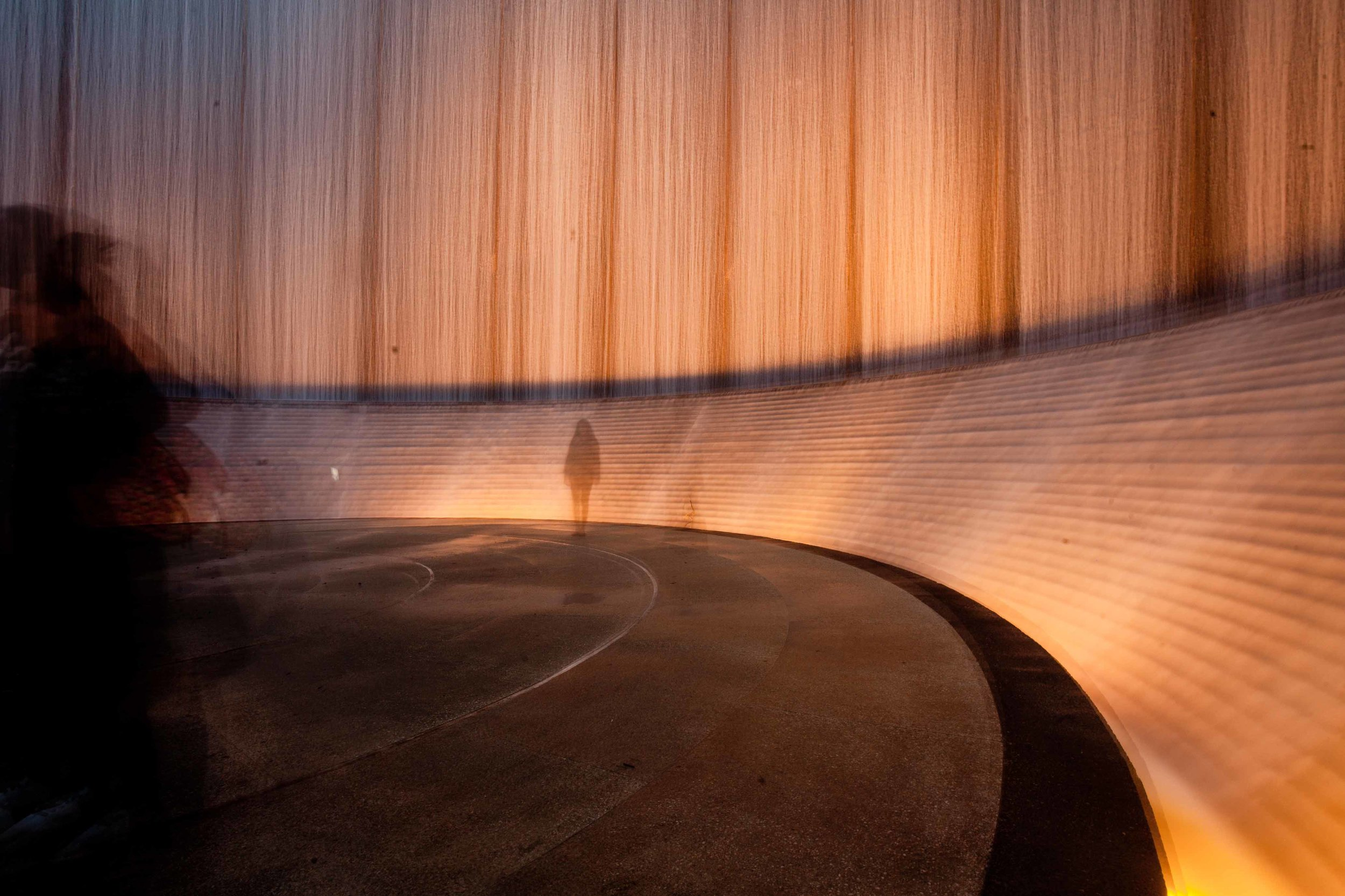 Hines Waterwall Park at Night - Houston 2016