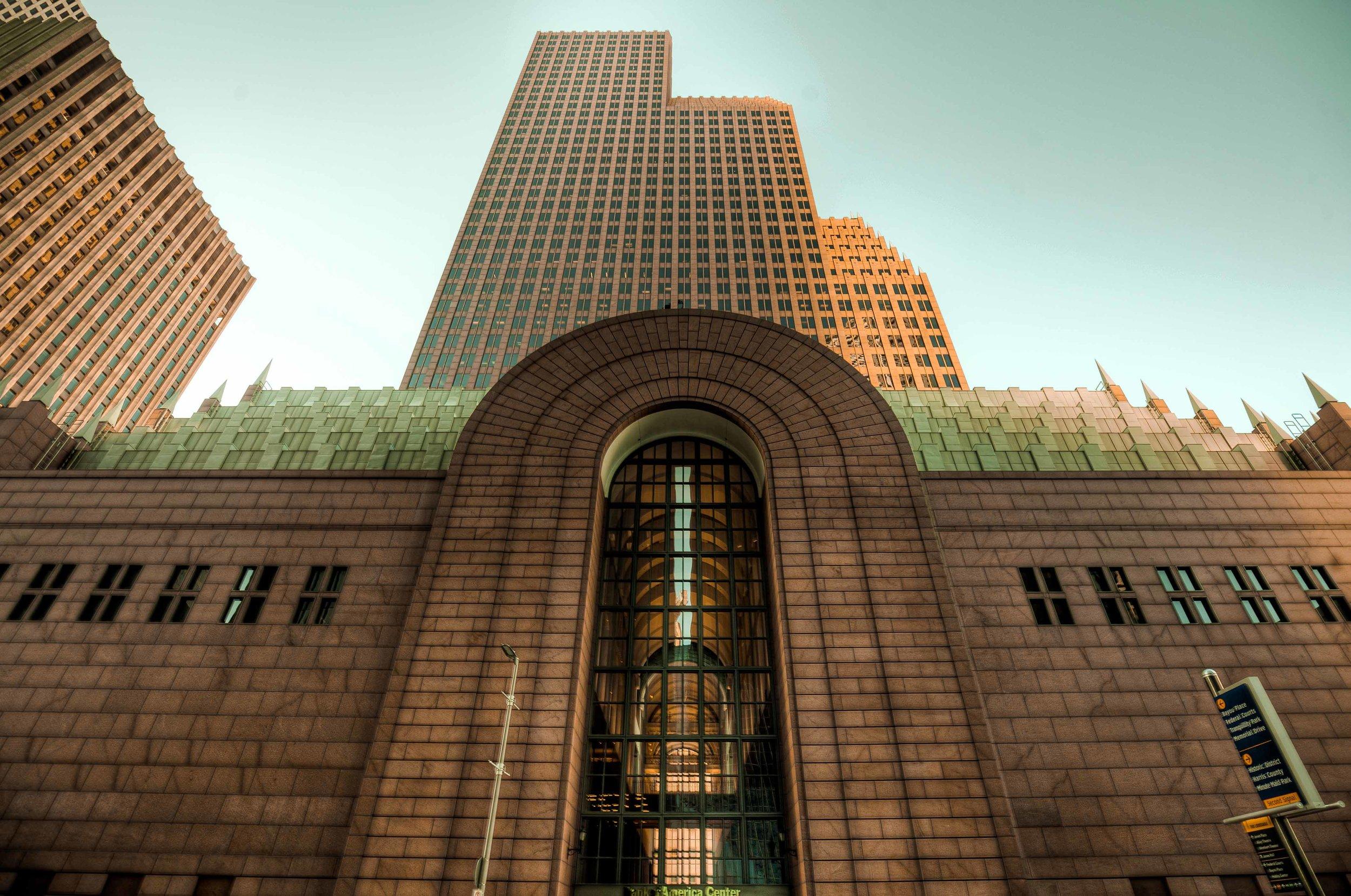 Bank of America Center's Entrance - Houston 2016
