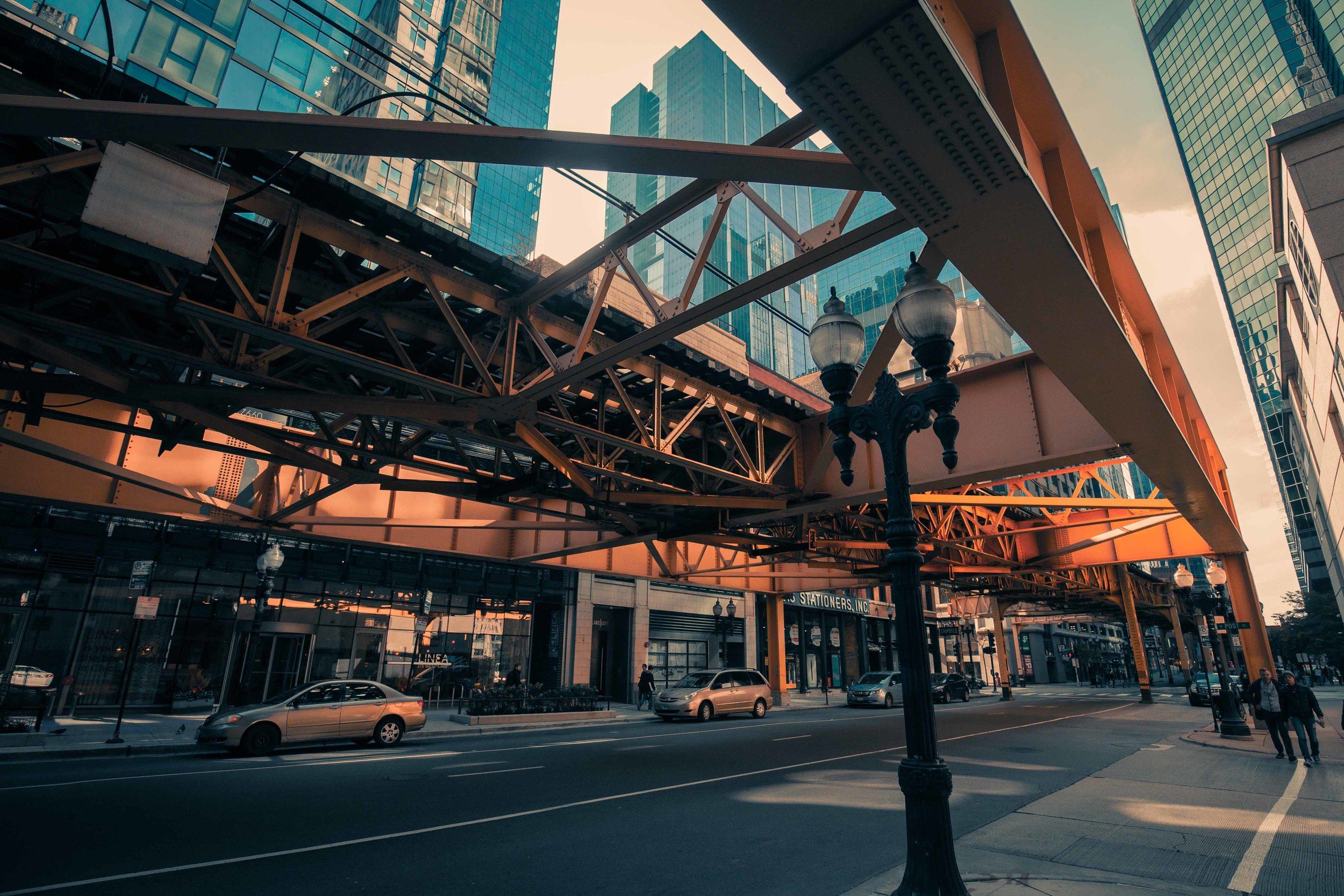 Elevated Tracks over La Salle Street - Chicago 2018