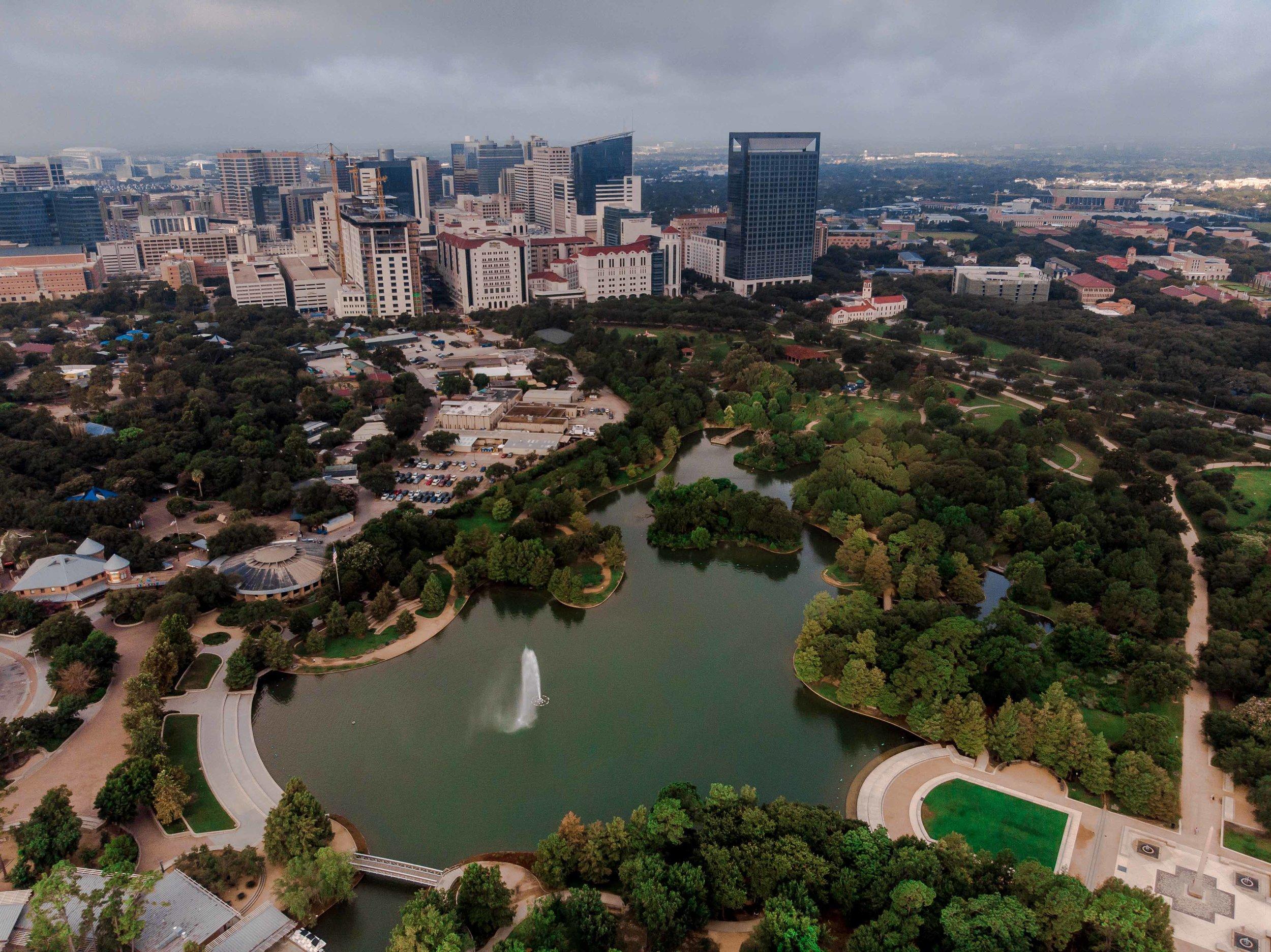 McGovern Lake and the Texas Medical Center, Houston, TX | 2018