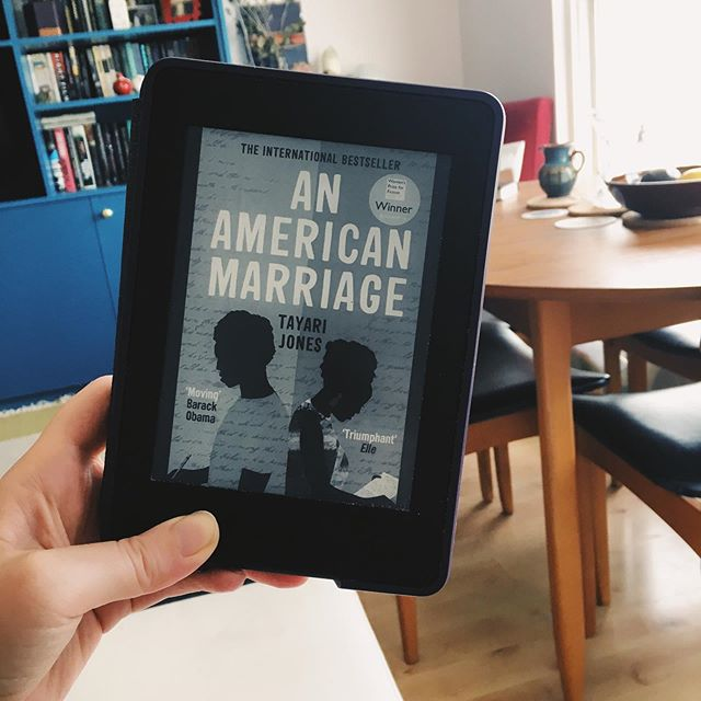 We're discussing this one at book club on Wednesday and I'm only 64% of the way through 😬...luckily it's compulsive as hell and I have no doubt I'll be able to finish in time 😏🤗🤓 • • • • • • • #anamericanmarriage #tayarijones #womensprizeforfiction bookstagram #booksofinstagram #amreading #currentlyreading #igreads #igreaders #igbooks #booklovers #booklife  #bookporn #lovetoread #lovebooks #booksandbeans #booksarelife #bookcommunity #culturetripbooks #greatreads #readmorebooks #booksofinsta #bookoftheday #vscobooks #bookpassion #bookobsessed #alwaysreading #booksbooksbooks